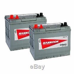 2x 85Ah Batterie de Loisirs, Decharge Lente Pour Caravane, Camping Car et Bateau
