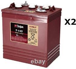2x Batterie à décharge lente Trojan T145 6V 260Ah