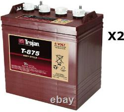 2x Batteries à décharge lente Trojan T875 8V 170Ah