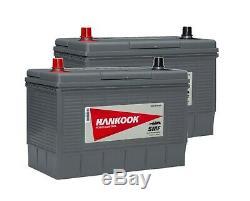 2x Hankook 12V 130Ah Batterie Décharge Lente Pour Caravane, Camping Car Bateau