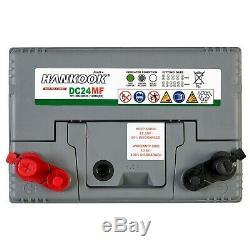 2x Hankook 12V 80Ah Batterie Decharge Lente Garantie de 4 Ans