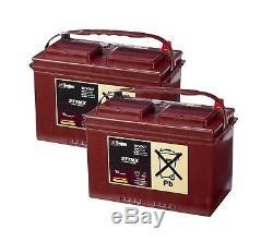 2x Trojan 27TMX Batterie de Camping Car 105Ah Batterie Décharge Lente