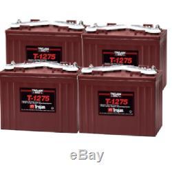 4x Trojan T1275 Batterie Décharge Lente Bateau 150Ah