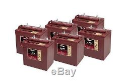 6x Trojan 8V Batterie Décharge Lente T875