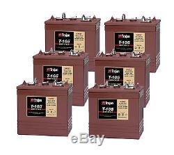 6x Trojan T105 T-105 batterie décharge lente 6V 225Ah