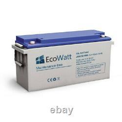 Batterie 150ah 12v Gel décharge Lente-Ecowatt