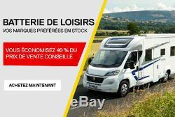 Batterie À Décharge Lente Cycle Profond 12V 100Ah Voiture Camping Car Bateau FR