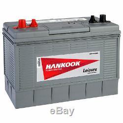 Batterie Bateau Caravane Car Décharge Lente Hankook 100Ah 12V Négative Positive