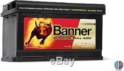 Batterie Décharge lente 12v 80ah C20 Banner AGM Marine Loisir