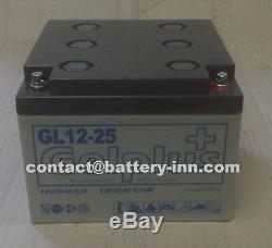 Batterie GEL 12v 25Ah Fauteuil Roulant Handicapé a décharge lente, 1300 Cycles