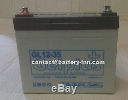 Batterie GEL 12v 35Ah Camping Car a décharge lente, 1300 Cycles