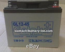 Batterie GEL 12v 45Ah Fauteuil Roulant Handicapé a décharge lente, 1300 Cycles