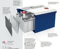 Batterie GEL Carbone 100AH Unibat spéciale servitude / Cellule à décharge lente