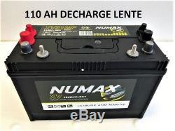 Batterie Numax decharge lente 110ah cellule CXV Technologie sans entretien