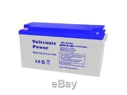 Batterie Solaire Plomb-Carbone 150 AH 12V Decharge Lente-Voltronic Power