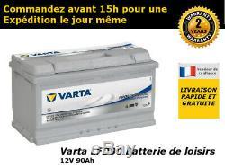 Batterie Varta LFD90 12v 90ah camping car idéal panneaux solaires caravane