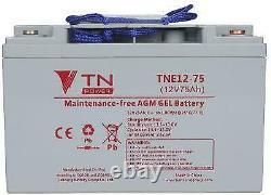 Batterie à decharge lente AGM TNE12-75 TN Power pour vélos électriques, scooters
