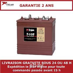 Batterie à décharge lente Trojan T105 6V 225Ah
