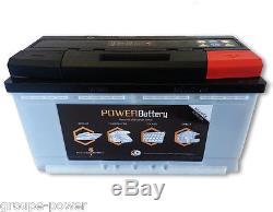 Batterie camping car 12v 130ah decharge lente ideal pour application marine