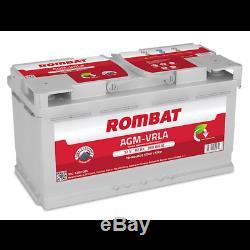 Batterie camping car AGM AGM92 12v 92ah 850A décharge lente