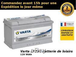 Batterie camping car Varta LFD90 12v 90ah decharge lente/profonde
