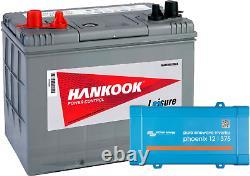 Batterie de Loisirs à Décharge Lente 80Ah et Convertisseur Phoenix 12V 375VA