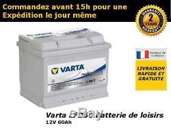Batterie decharge lente Varta LFD60 12V 60ah 242x175x190mm