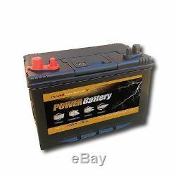 Batterie décharge lente camping car bateau 12v 100ah double borne 302x172x220mm