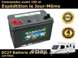 Batterie marine decharge lente 12v 90ah 500 cycles de vie DC27MF