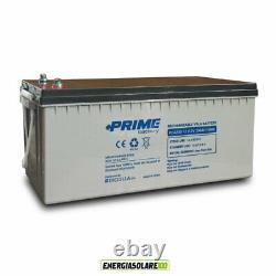 Batterie solaire AGM 200h 12V Sans Entretien Photovoltaïque decharge lente
