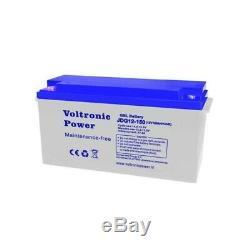 Batterie solaire gel 150ah 12v décharge Lente-EcoWatt