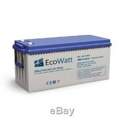 Batterie solaire gel 200ah 12v décharge Lente-EcoWatt