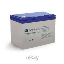 Batterie solaire gel 50ah 12v décharge Lente-EcoWatt