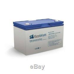 Batterie solaire plomb Carbone 100ah 12v decharge Lénte-EcoWatt