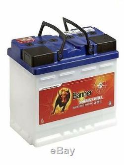 Batterie stationnaire camping car banner energy bull 95601 12v 80ah