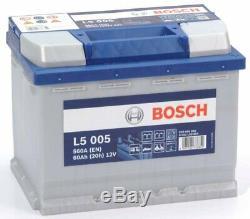 Bosch L5005 Batterie Décharge Lente Loisirs Camping-Cars Bateaux 12 Volt 60 Ah