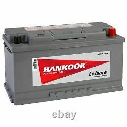 Hankook 12V 110Ah Batterie Décharge Lente Pour Caravane Bateau et Camping Car