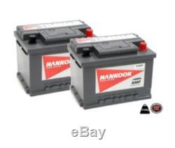 Hankook 65Ah Batterie Décharge Lente x2 XV65