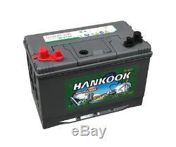 Hankook 90Ah Batterie Decharge Lente, 12V, 4 ans de garantie