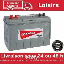 Hankook XL31 Batterie Caravane Camping Car et Bateau Decharge Lente 12V 130AH Fr