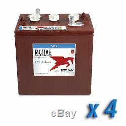 Set de 4 Trojan cyclic batterie 240Ah 6V T-125+ acide libre voiture golf photov
