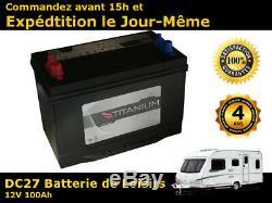 Titanium 12V 90Ah Batterie Décharge Lente Pour Loisirs, Caravane, Camping Car