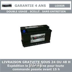 Titanium XV110 Batterie Décharge Lente Pour Caravane et Camping Car 12V 110AH