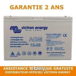 Victron Energy AGM Batterie de Loisirs Décharge Lente 12V/38AH BAT412038081