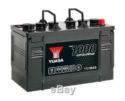 Yuasa YBX1643 643HD Cargo Super Résistant Batterie 12V 100Ah 680A